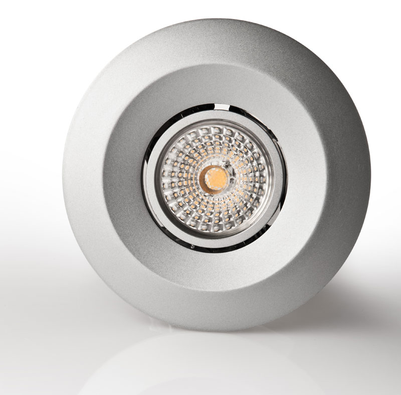 Luxstream_Crystal_LED-Downlight_11_watt_silber_Frontansicht